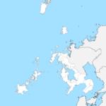 長崎県 白地図 市区町村界 フリー素材