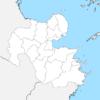 大分県 白地図 市区町村界 フリー素材