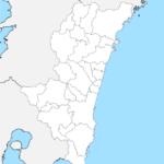 宮崎県 白地図 市区町村界 フリー素材